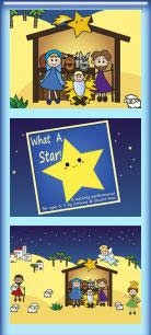 What A Star Nativity Play PowerPoint Scenery Sample